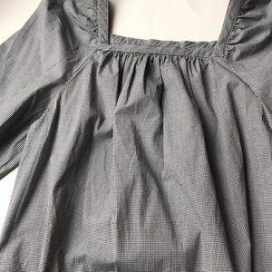 J. Crew Tops - J Crew Black& white Gingham peasant blouse